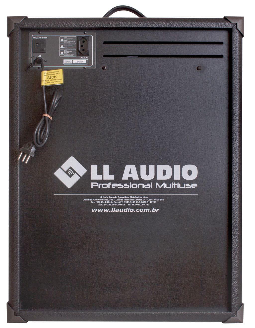 """Caixa Multiuso LL Audio TRX-12 (12""""/80w RMS/USB/Bluetooth/FM/Cartão SD)"""
