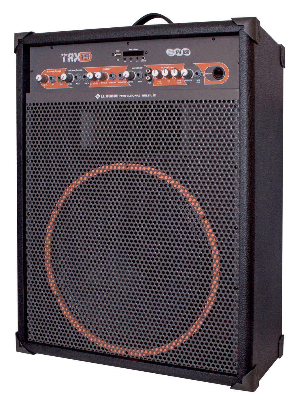 """Caixa Multiuso LL Audio TRX-15 (15""""/120w RMS/USB/Bluetooth/FM/Cartão SD)"""