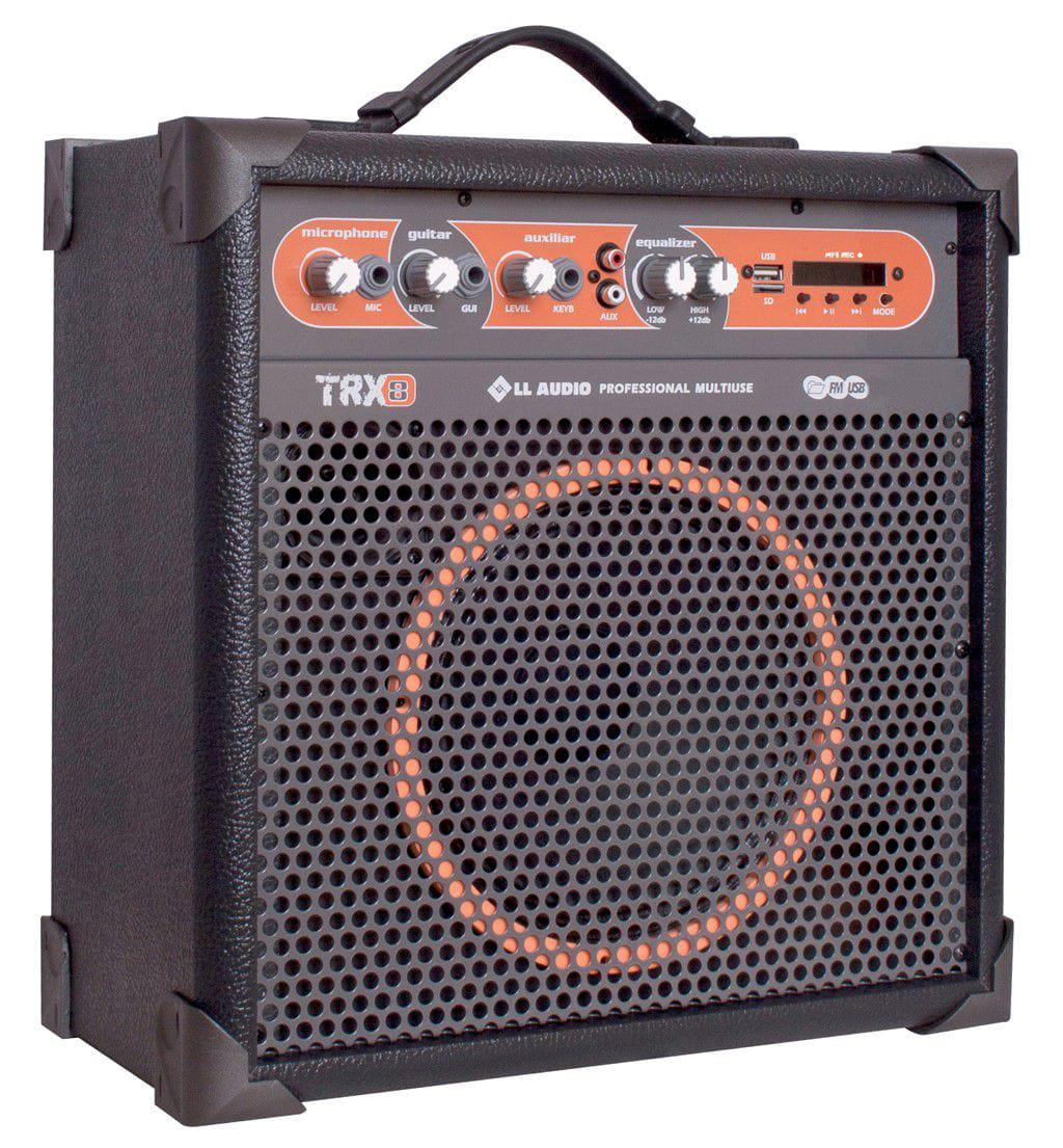 """Caixa Multiuso LL Audio TRX-8 (8""""/45w RMS/USB/Bluetooth/FM/Cartão SD)"""