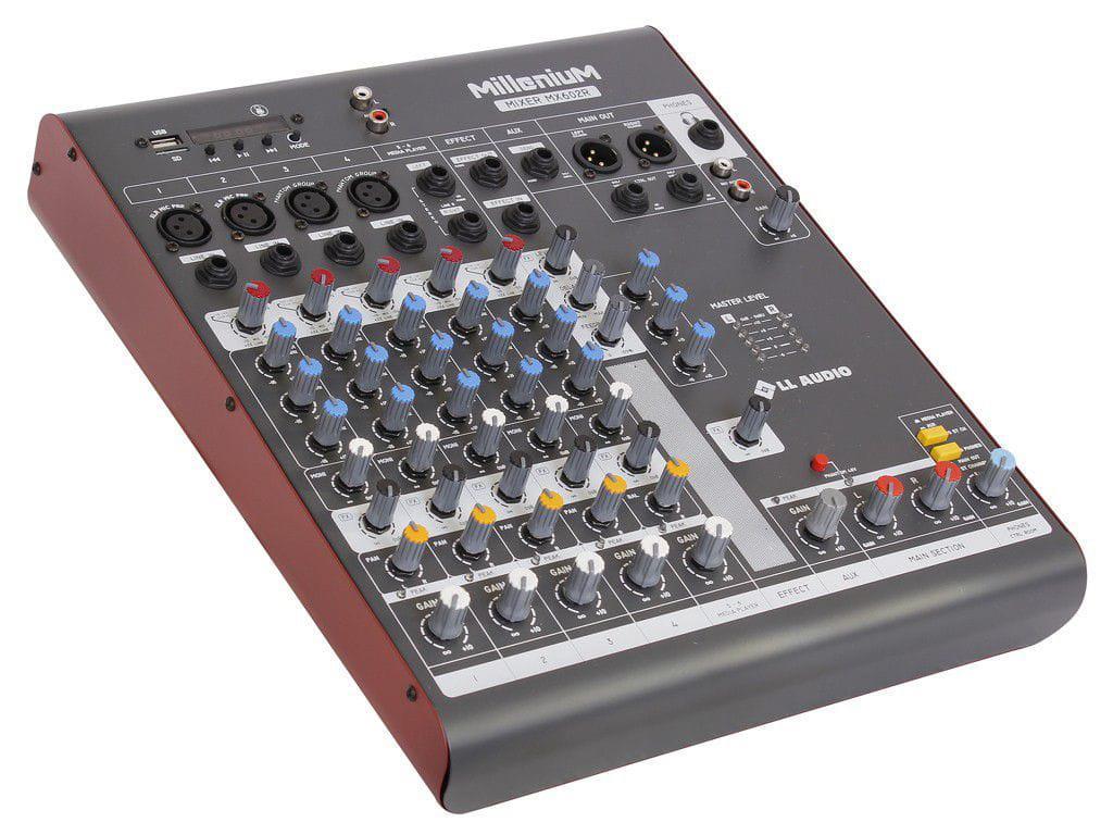 LL Audio Mixer Millenium MX602R (6 Canais/USB/Cartão SD/Bluetooth)
