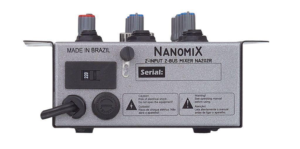 LL Audio Mixer Nanomix NA202R (2 Canais/Bivolt)