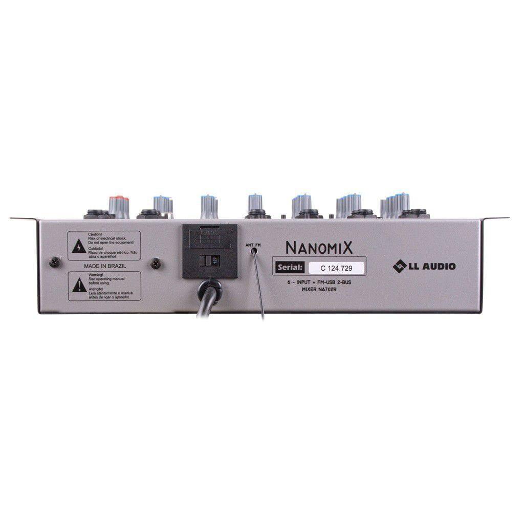 LL Audio Mixer Nanomix NA702R BT (6 Canais/USB/Cartão SD/Bluetooth/FM)