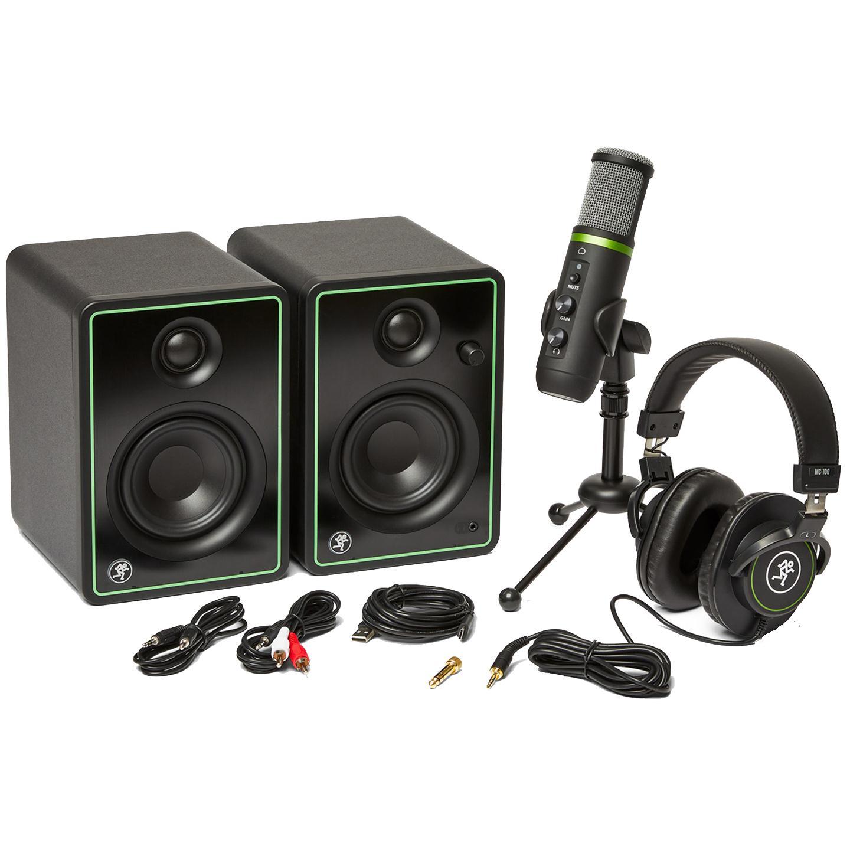 Mackie Kit Home Studio CREATOR BUNDLE (Monitor/Microfone/Fone de Ouvido)