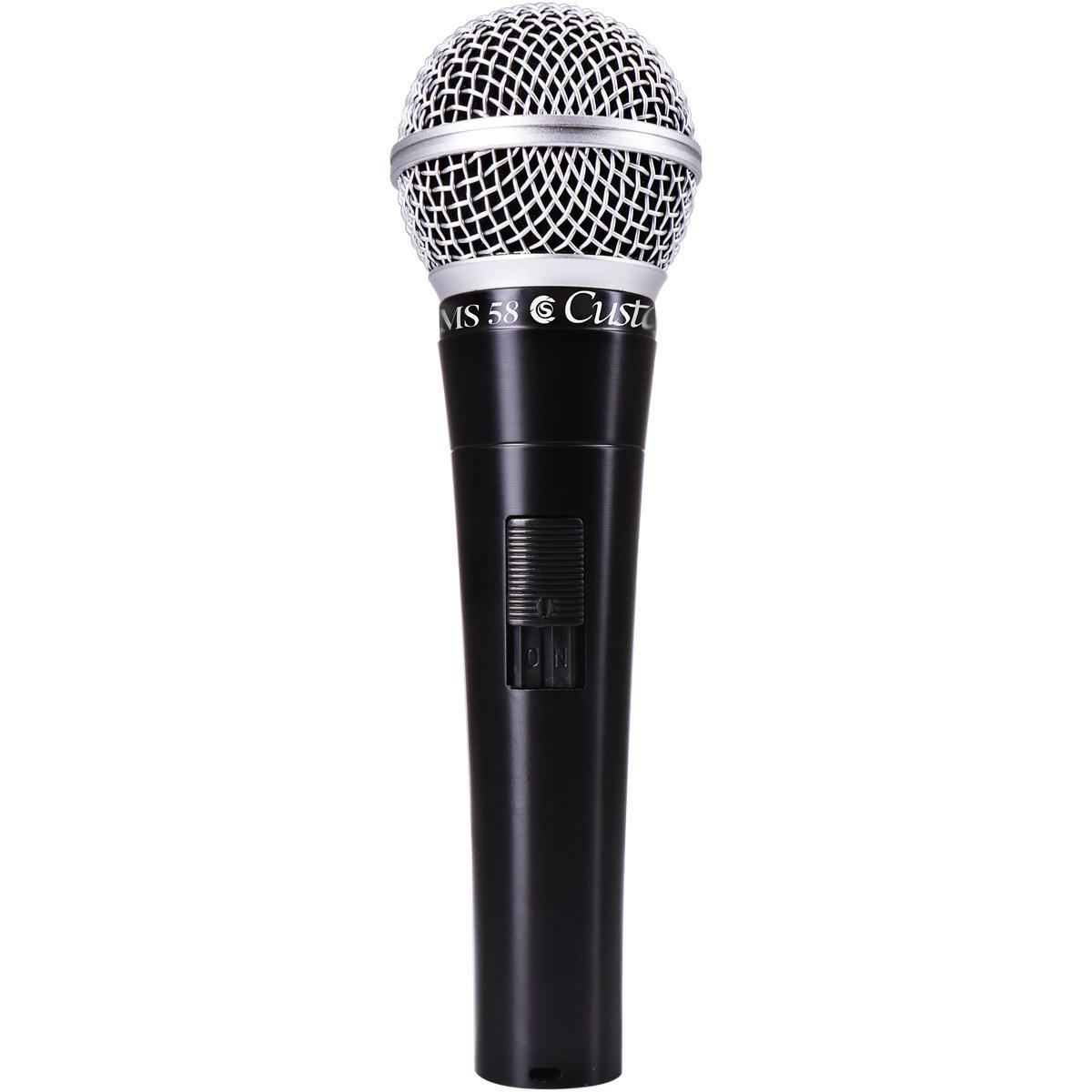 Microfone Dinâmico Cardióide Custom Sound CSMS-58