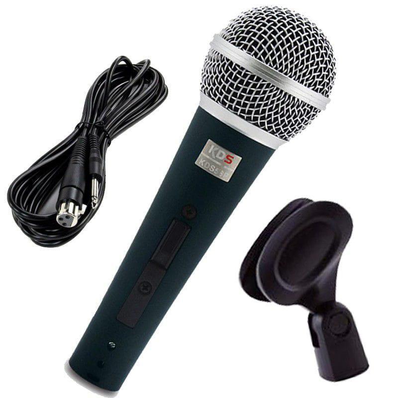Microfone Dinâmico Com Fio Kadosh KDS-58P (Com Cabo e Cachimbo)