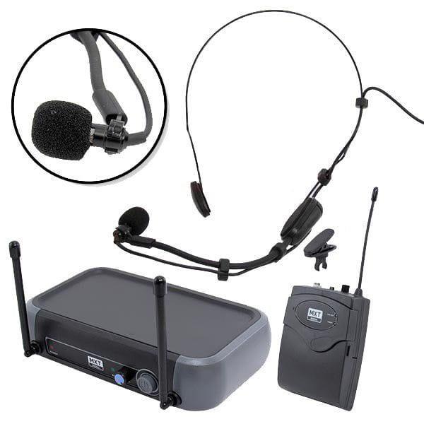 Microfone Headset/Lapela Sem Fio MXT UHF-10BP (UHF)