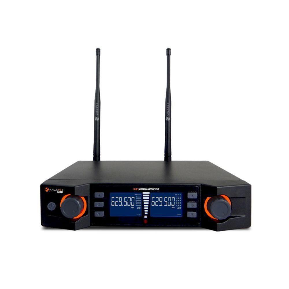 Kadosh Microfone Sem Fio Duplo K-492M (UHF/Display Digital)