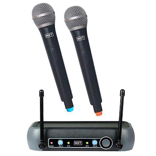 Microfone Sem Fio Duplo MXT UHF-202 (UHF)