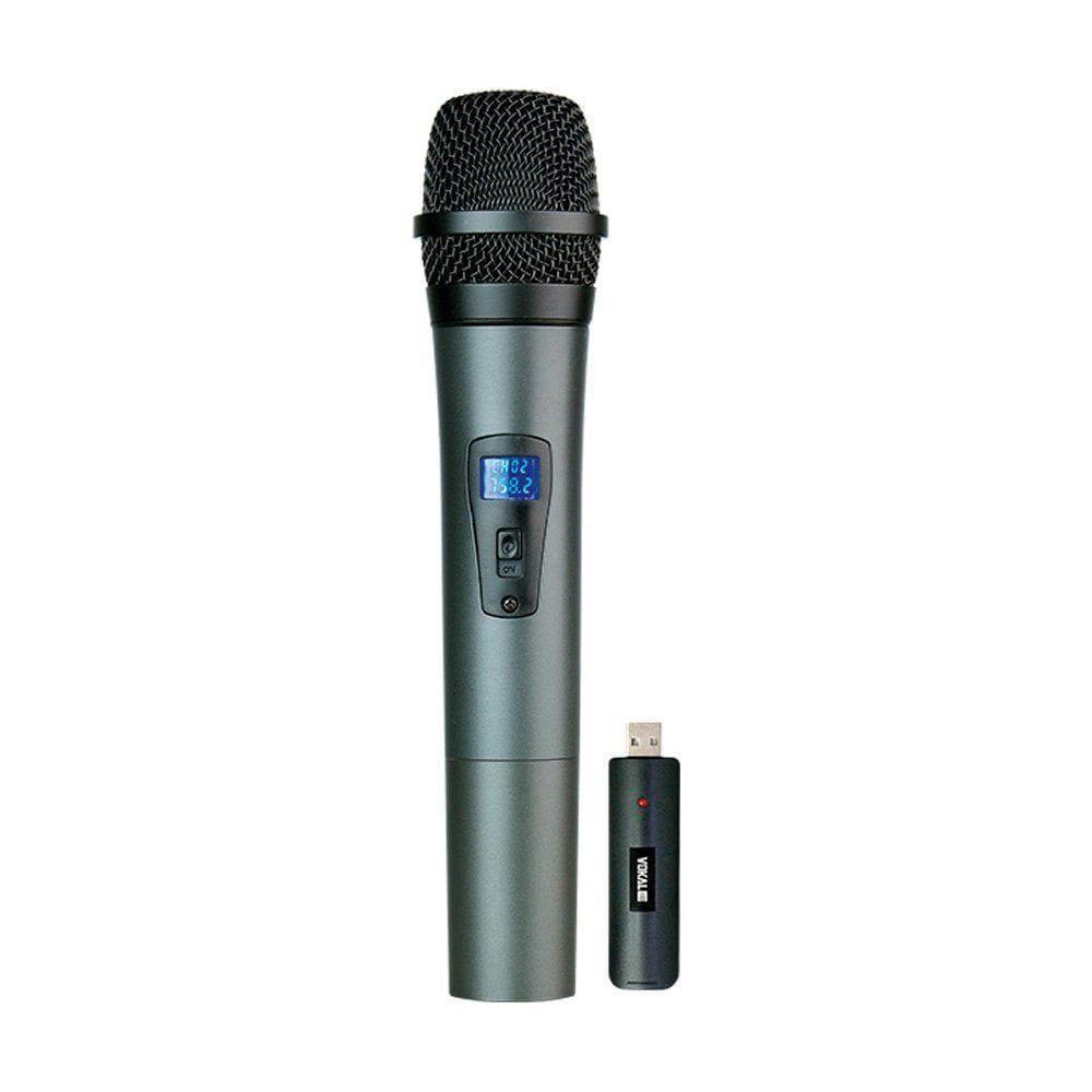 Microfone Sem Fio Duplo Vokal VLR-502 (UHF/Bateria de Lithium)