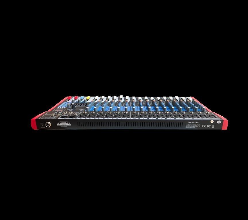 Mixer Soundvoice MS-162 EUX (16 Canais/USB/Equalizador 7 Bandas/Efeito Digital)