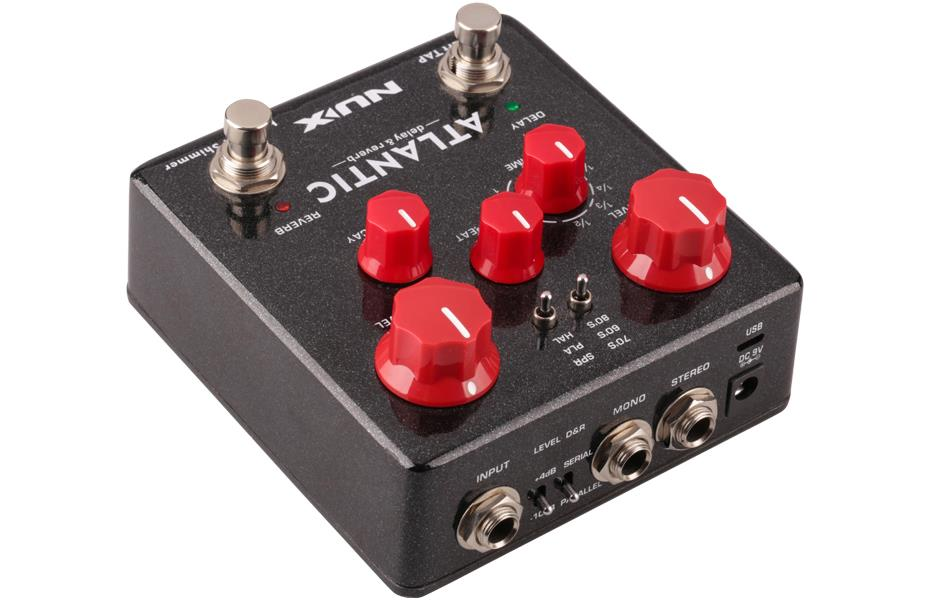 Nux Pedal De Efeito para Guitarra ATLANTIC (Delay, Reverb e Shimmer)
