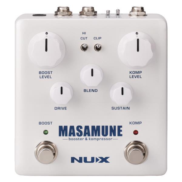 Nux Pedal De Efeito para Guitarra MASAMUNE (Booster e Compressor)