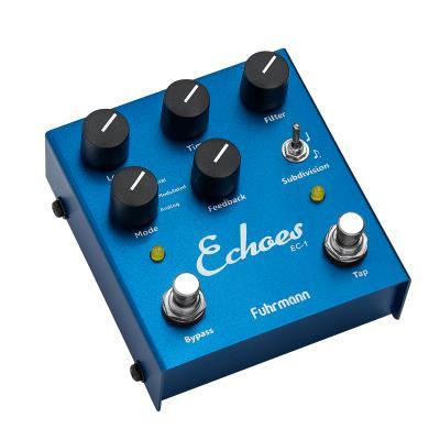 Fuhrmann Pedal de Efeito para Guitarra Echoes Tap Delay EC-1