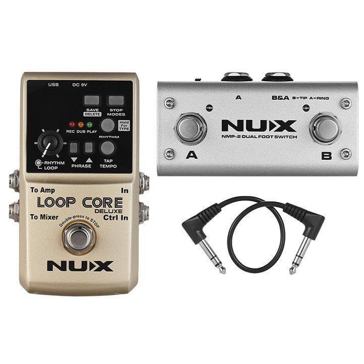 Nux Pedal de Efeito para Guitarra Loop Core Deluxe (8 Horas de Gravação)