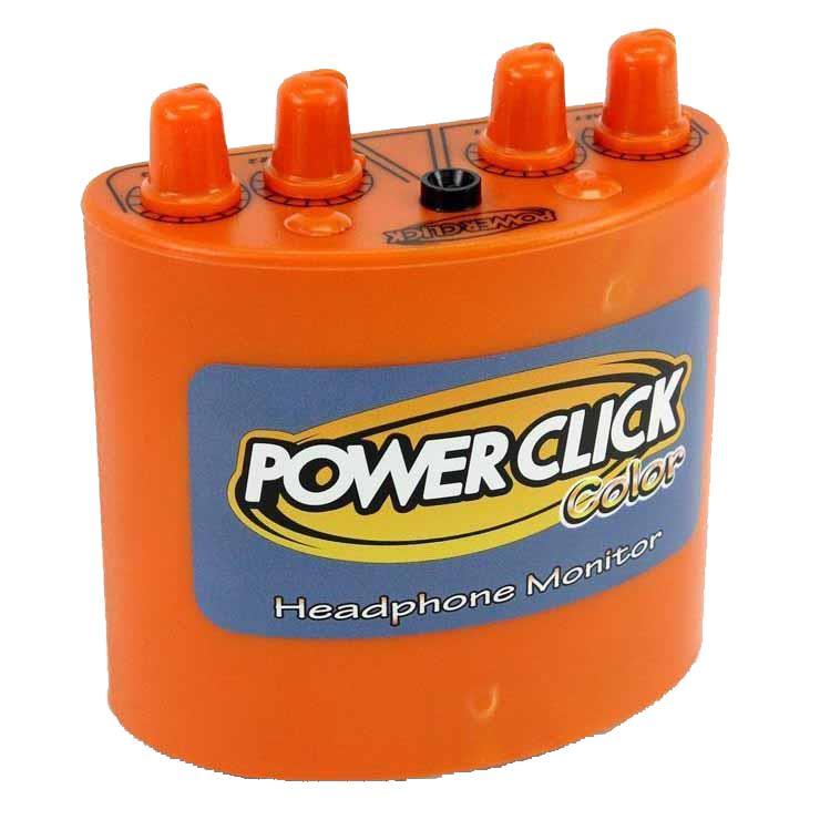 Power Click Amplificador de Fone Color Laranja (2 Canais)