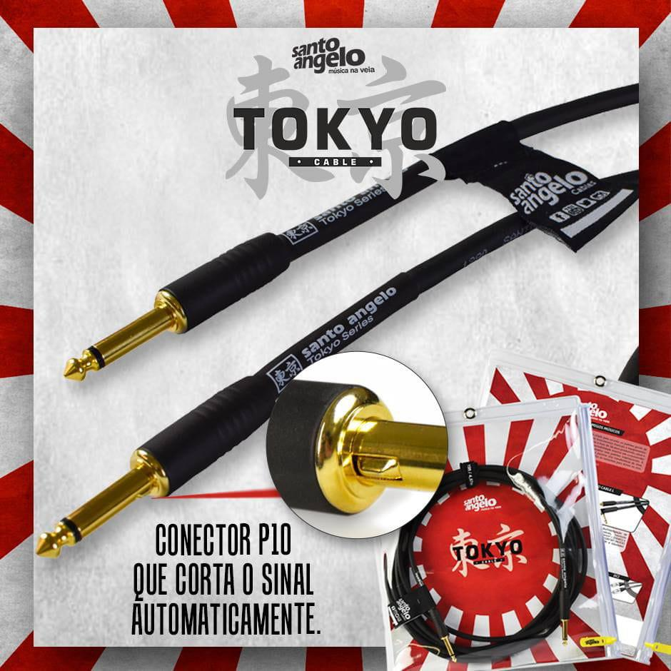 Santo Angelo Cabo Instrumento P10/P10 Mono TOKYO (Plug com Sistema Automute/4,57 Metros)