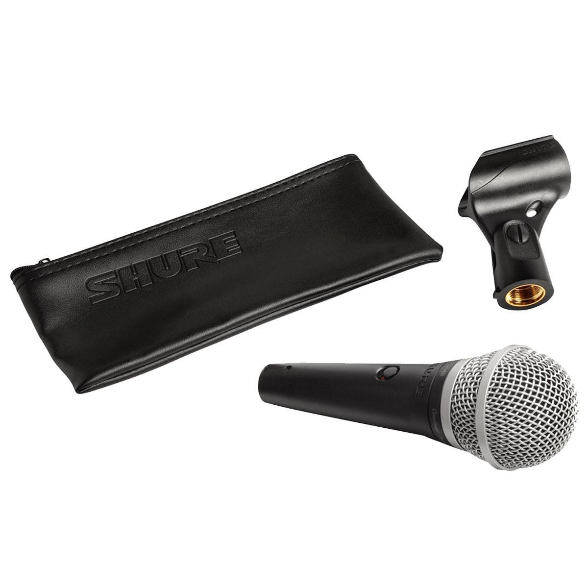 Shure Microfone Dinâmico Cardióide PGA48 (Bag/Cachimbo)