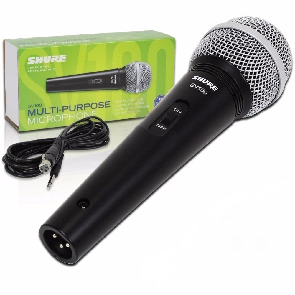 Shure Microfone Dinâmico Cardióide SV100 (Com Cabo)