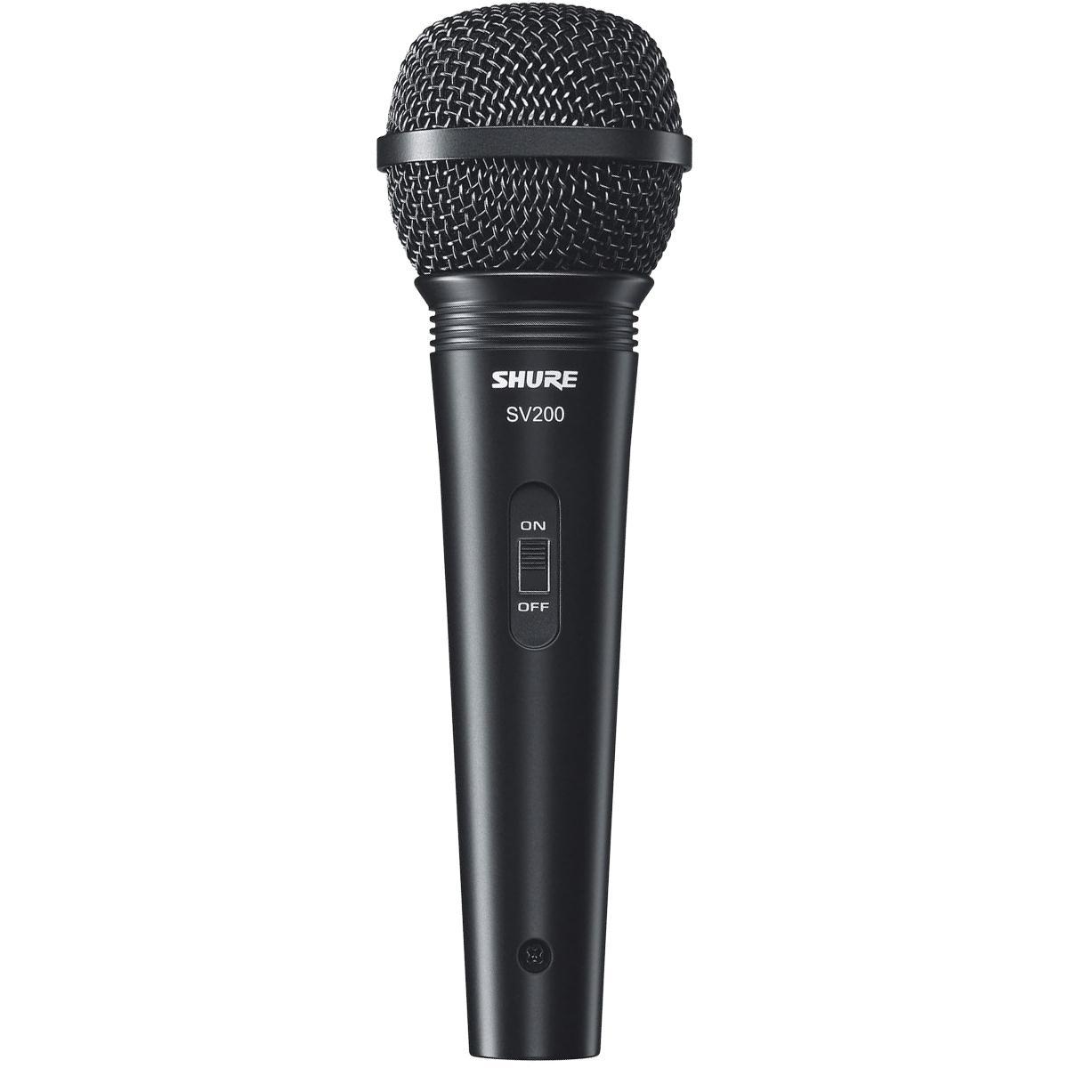 Shure Microfone Dinâmico Cardióide SV200 (Com Cabo)