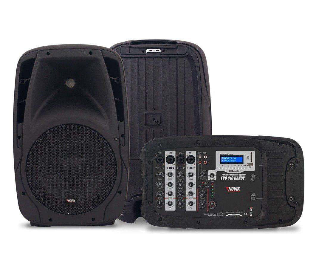 Sistema de Pa Portátil Novik EVO 410 Handy (Com Microfone/300w RMS/USB/SDCard/Bluetooth)
