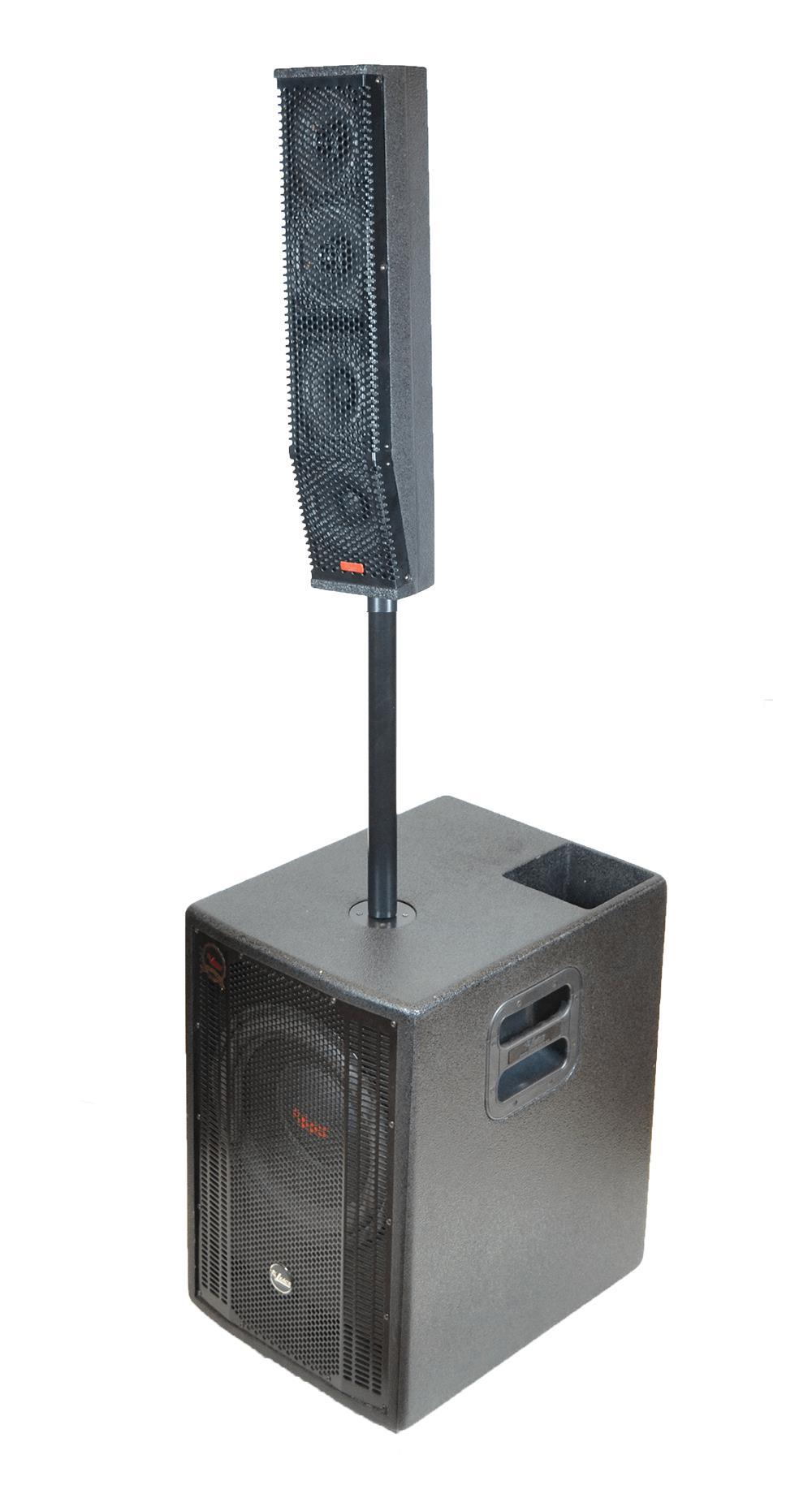"Sistema PA Ativo Leacs System Pack 1000 (Bi-Ampli 500+500w RMS/SUB 12"")"