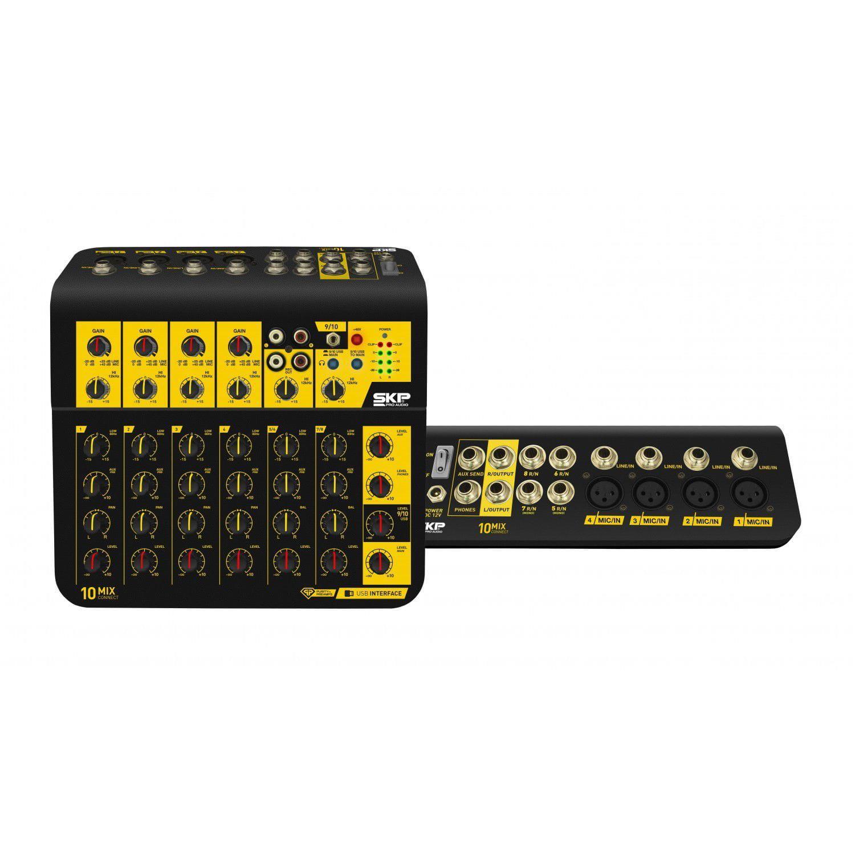Mixer SKP MIXCONNECT 10 (10 Canais/Com Interface USB)