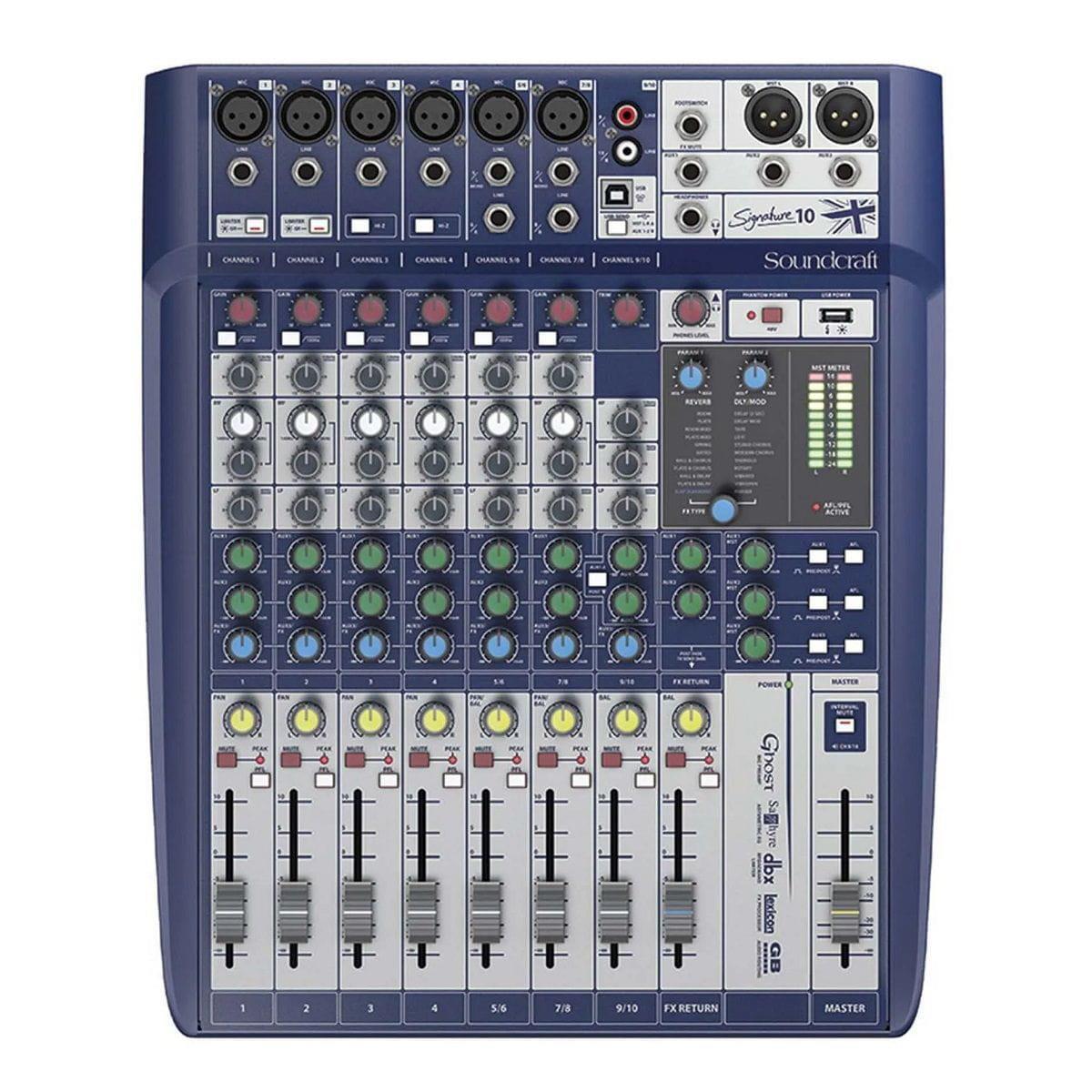 Soundcraft Mixer Signature 10 (10 Canais/Interface USB)