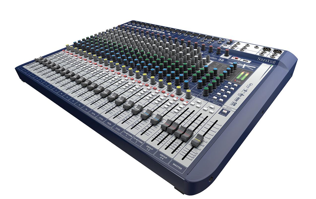 Soundcraft Mixer Signature 22 (22 Canais/Interface USB)