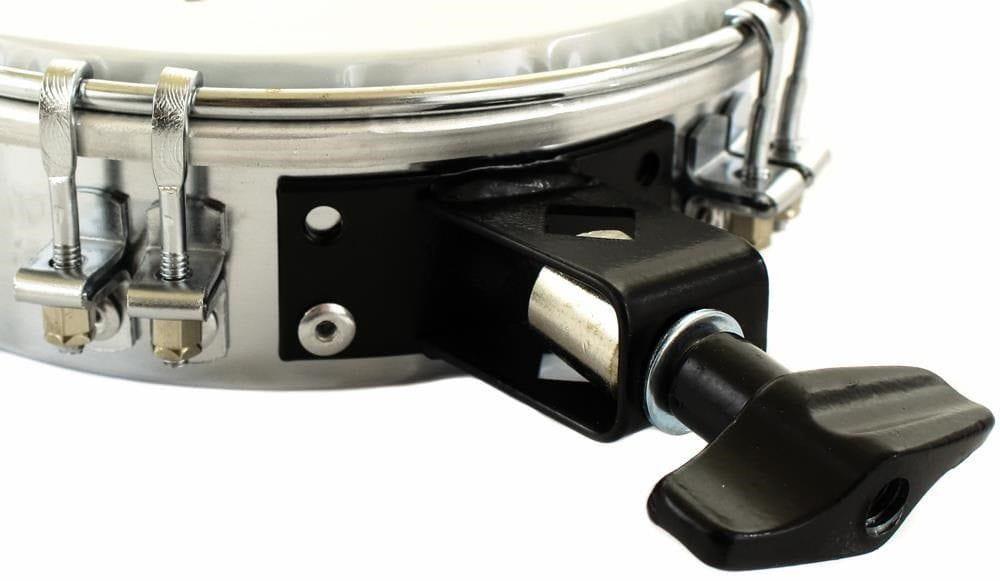 Tamborim de Aço Torelli TT-409 com Suporte para Clamp (Pele Leitosa)