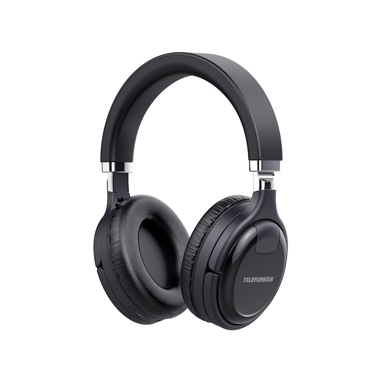 Telefunken Fone de Ouvido Sem Fio TF-H800ANC (Com cancelamento de Ruído)