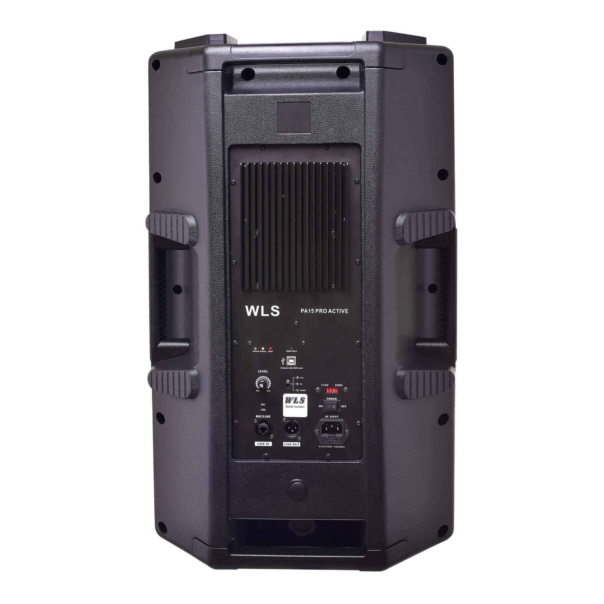 Caixa Ativa WLS PA-15 PRO (15''/500w RMS)