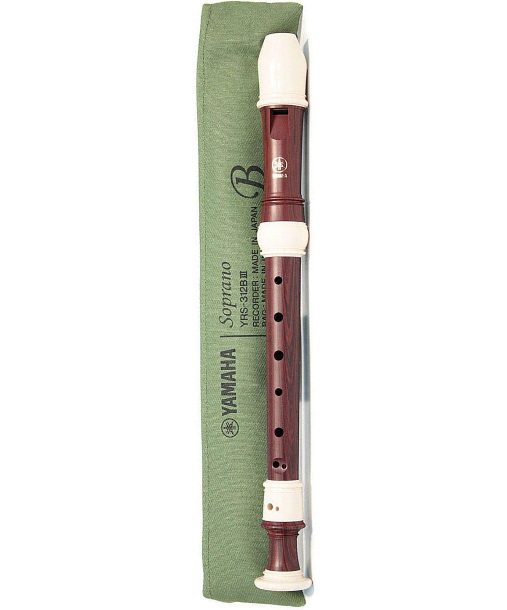Yamaha Flauta Doce Soprano Barroca YRS-312BIII