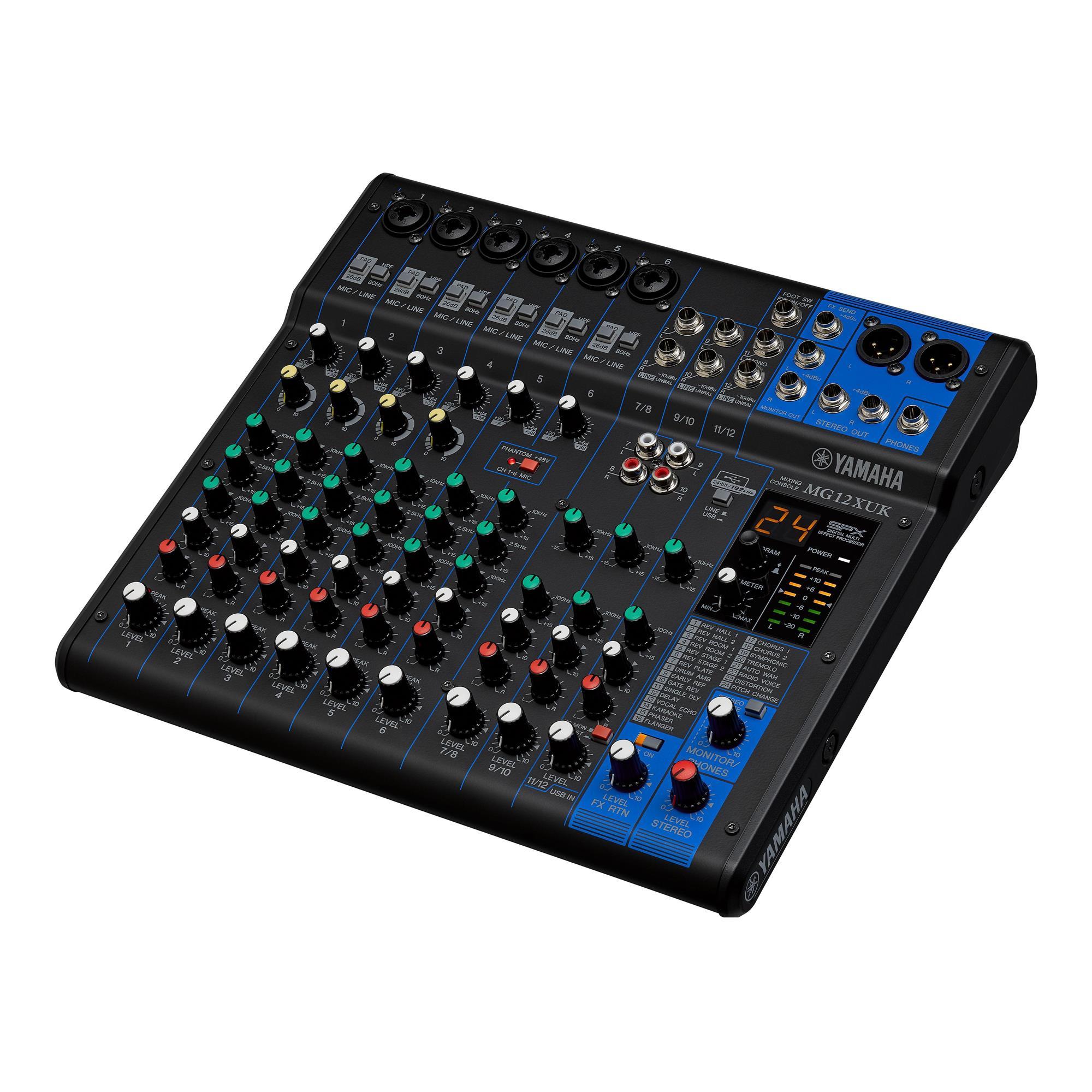 Yamaha Mixer MG12XUK (12 Canais/Com Interface USB)