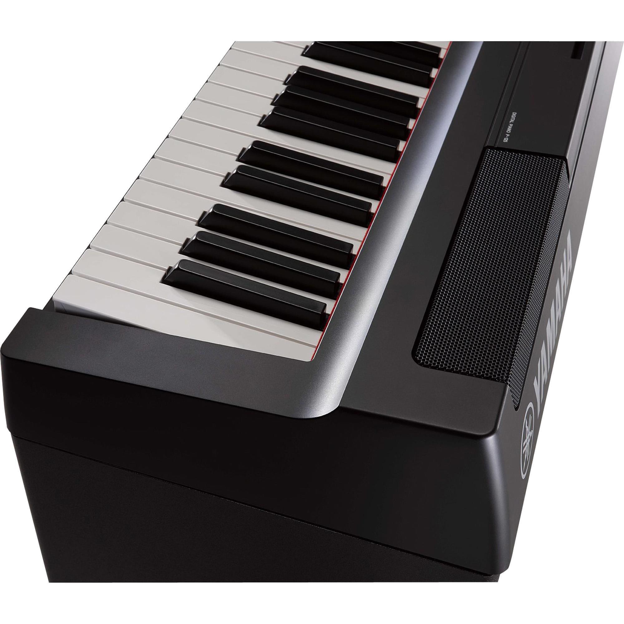 Yamaha Piano Digital Compacto P125 B (Com Pedal e Fonte)