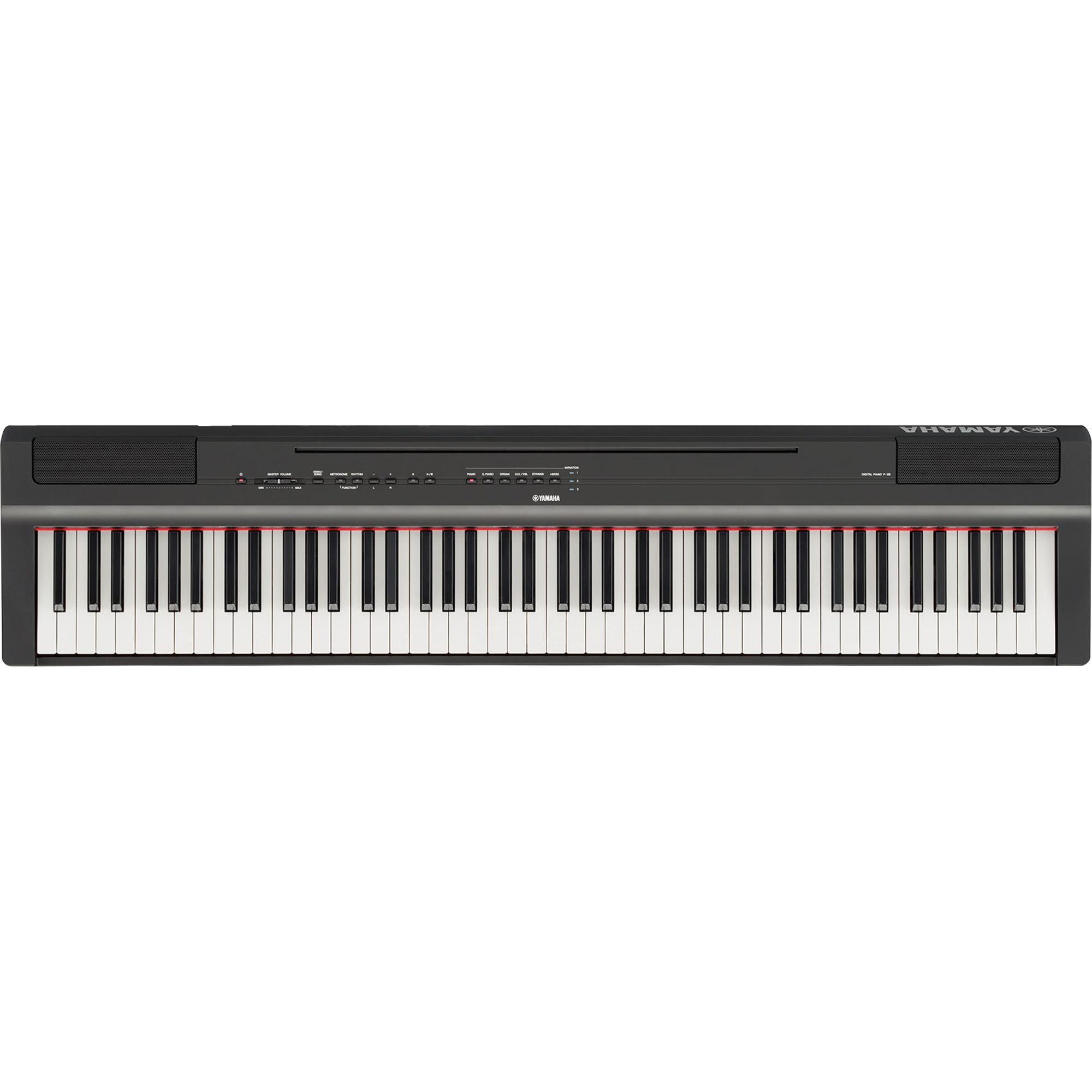 Yamaha Piano Digital P125B + Estante Original L125B + Banco + Capa Proteção