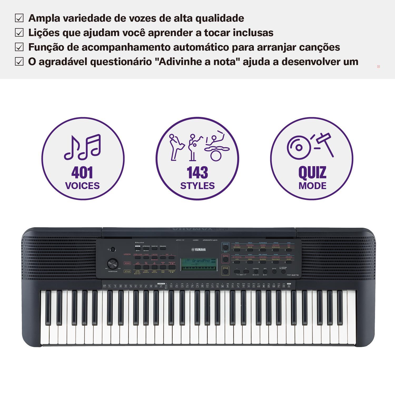 Yamaha Teclado Arranjador PSR-E273 (Com Fonte)