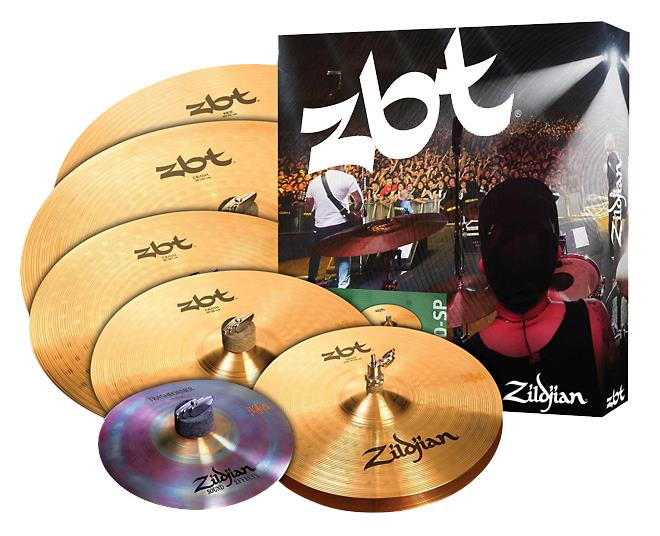 "Zildjian Kit de Pratos ZBTP390-SP (10"" Trashformer, 14'' Hi-Hat, 14'' Crash, 16'' Crash, 18'' Crash e 20'' Ride)"