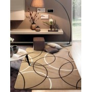Tapete Sala Decorada Luxo Macio 200X240cm Design Geométrico