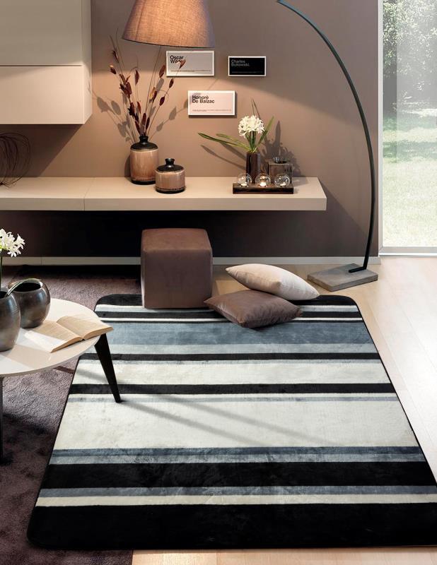 Tapete Sala Decorada Luxo Macio 140X200cm Design Geométrico