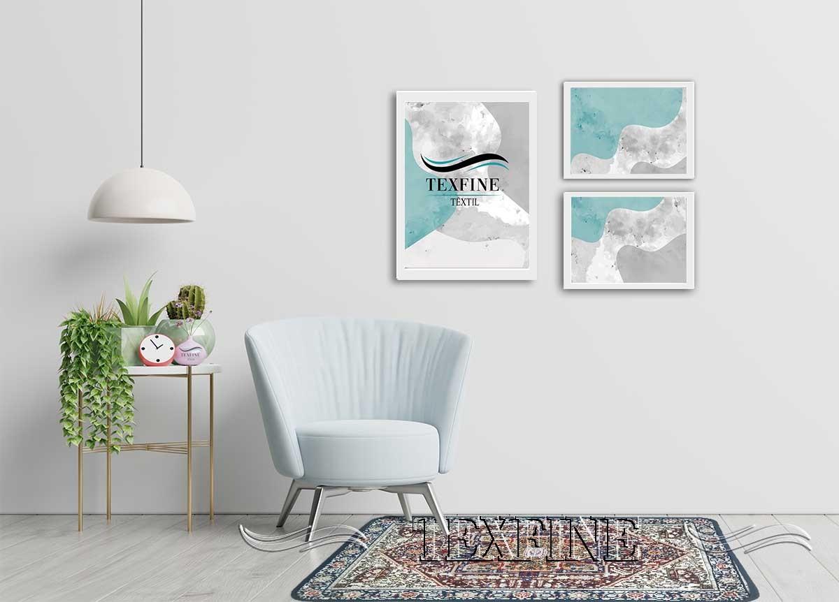 Tapete Sala Luxo Decorado 100X140cm Design Indiano