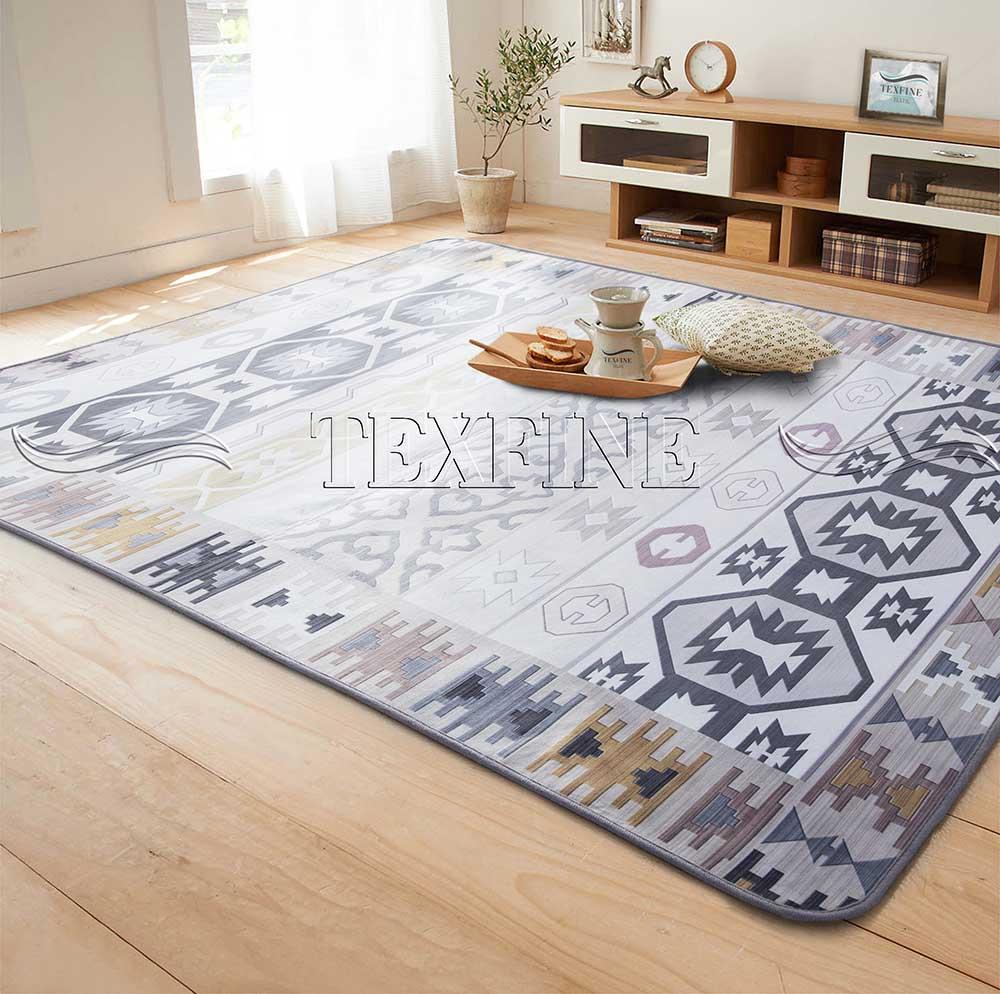 Tapete Sala Luxo Decorado 140X200cm Design Indiano