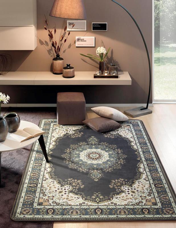 Tapete Sala Luxo Decorado 140X200cm Design Oriental