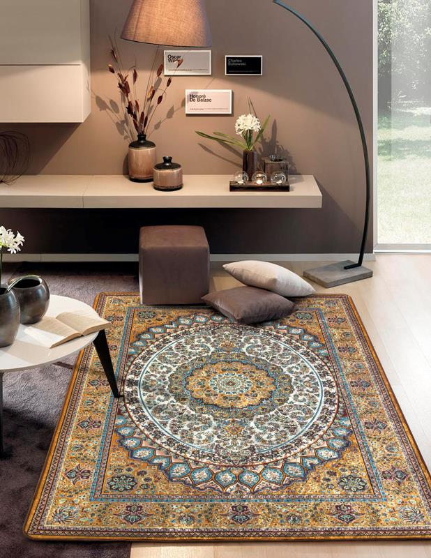 Tapete Sala Luxo Decorado 200X240cm Design Oriental
