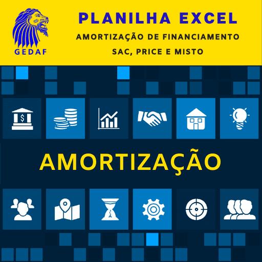 Planilha Excel Amortização SAC, Price e Misto