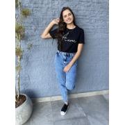 Camiseta Feminina Preta Amour