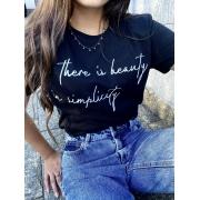 Camiseta Feminina Preta Simplicity