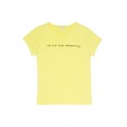 T-Shirt Estampada Amarela Feminino