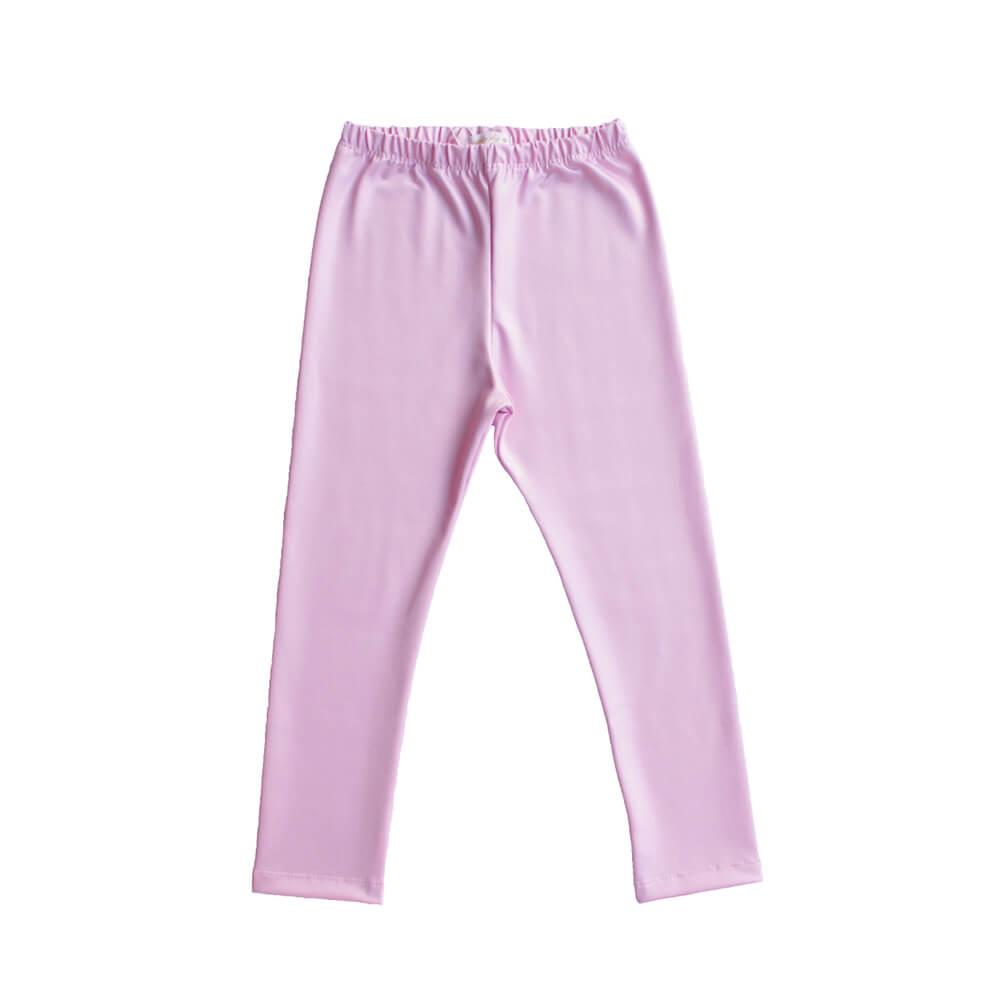 Calça Legging Infantil Feminino Rosa Chiclete