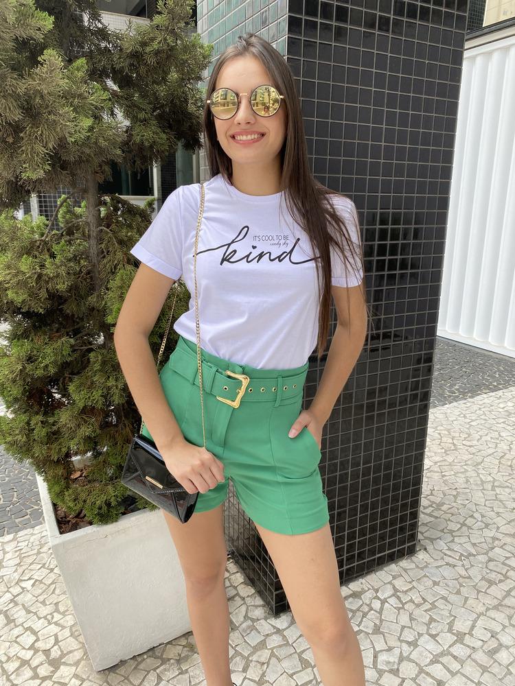 Camiseta Feminina Branca Kind