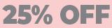 Toda a loja com 25% de desconto